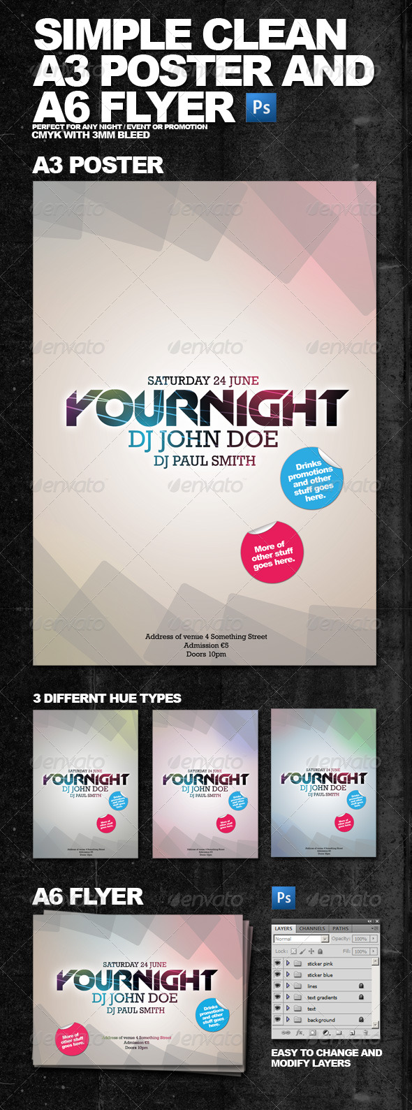 GraphicRiver Clean Simple A3 Poster and A6 Flyer 150180