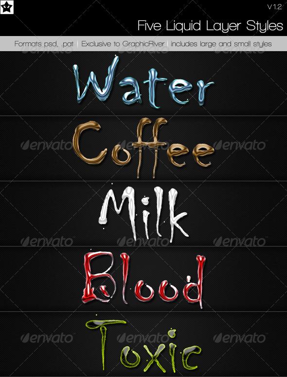 GraphicRiver 5 Liquid Layer styles 120305