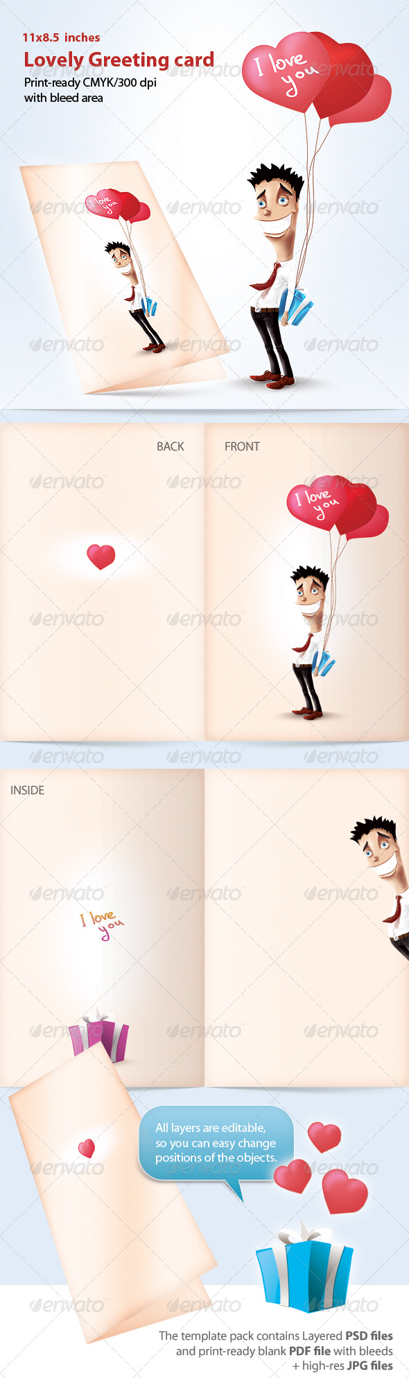 GraphicRiver Lovely Greeting Card 150407