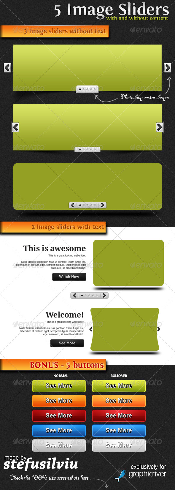 GraphicRiver 5 Image Sliders 150579