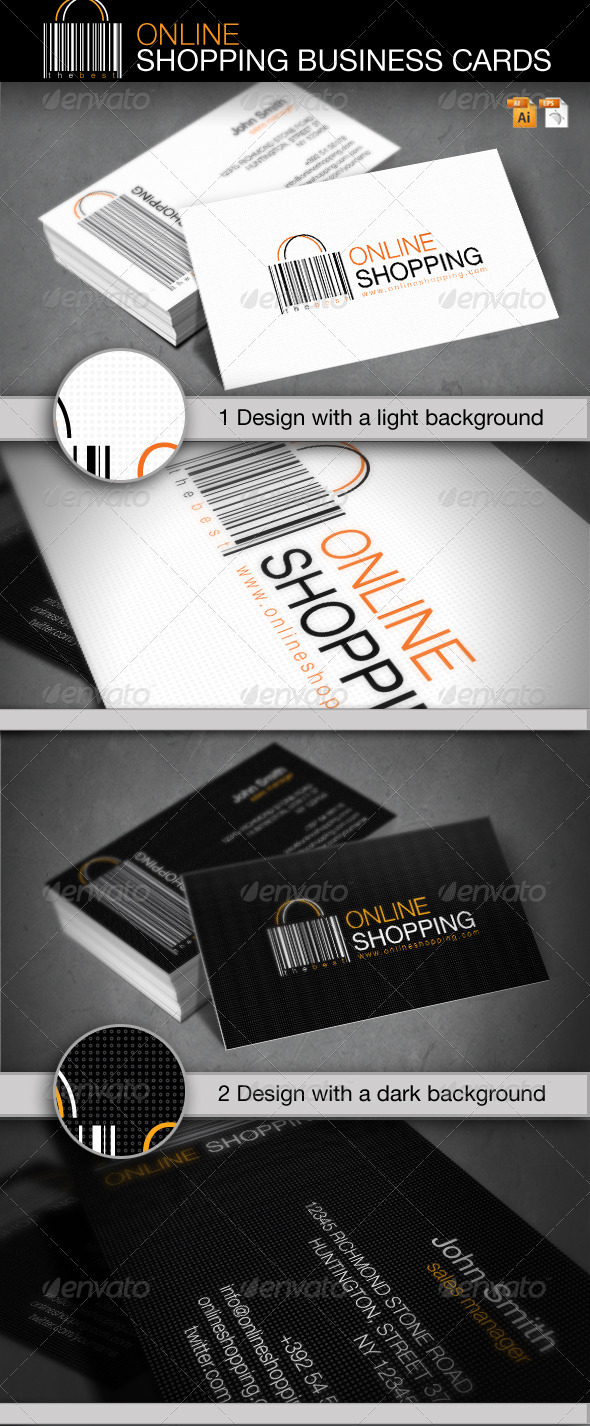 GraphicRiver Online Shopping Business Card 1228820
