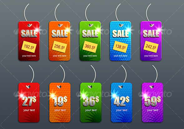 GraphicRiver priceless sales tags 50052