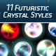 11 Futuristic Crystal PS Styles - GraphicRiver Item for Sale