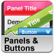 Panels and Button Set - GraphicRiver Item for Sale