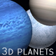 3D Planets for Adobe Photoshop - GraphicRiver Item for Sale