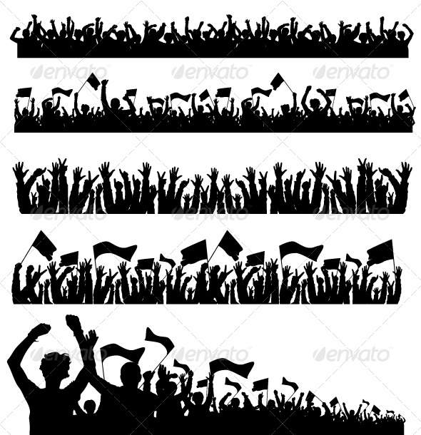 GraphicRiver Vector Crowd with Flags 151092