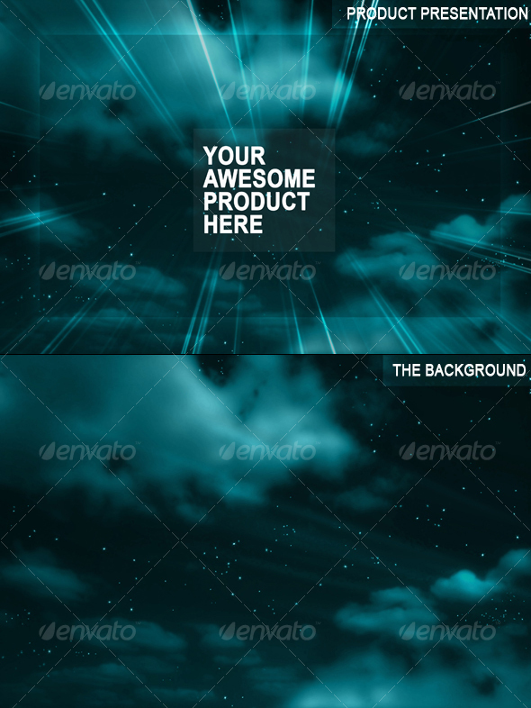 GraphicRiver The Night Sky Background and Presentation 43893