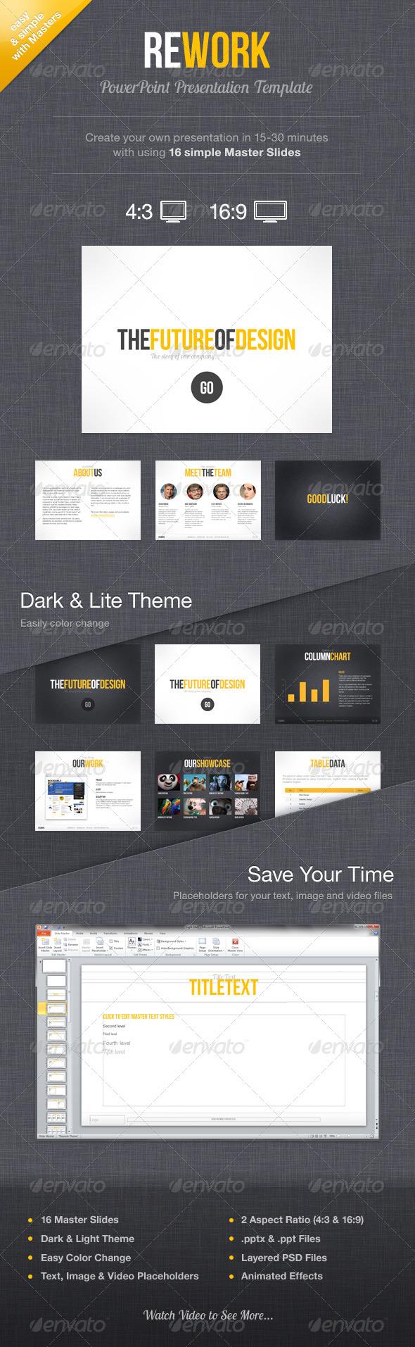 GraphicRiver Rework PowerPoint Presentation Template 1249481