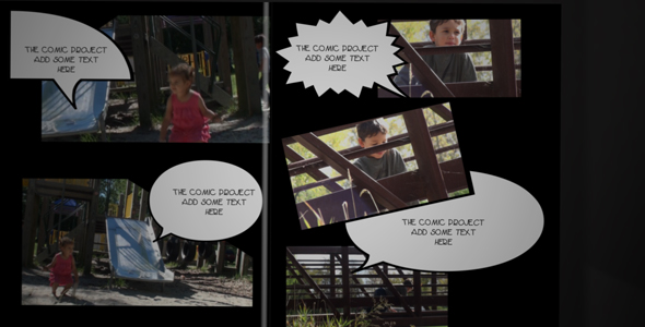 After Effects Project - VideoHive The Comic Project v 1.2 151311