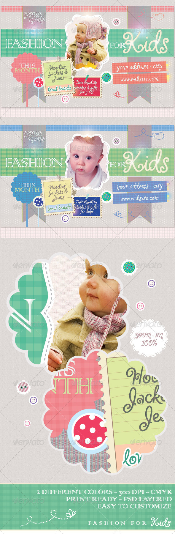 GraphicRiver Fashion For Kids Flyer Template 1253091