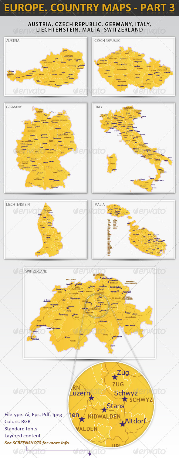 GraphicRiver Europe Country maps part 3 1255755