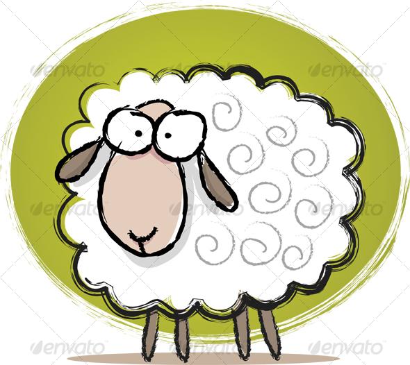 GraphicRiver Cute Sheep Sketch 41004