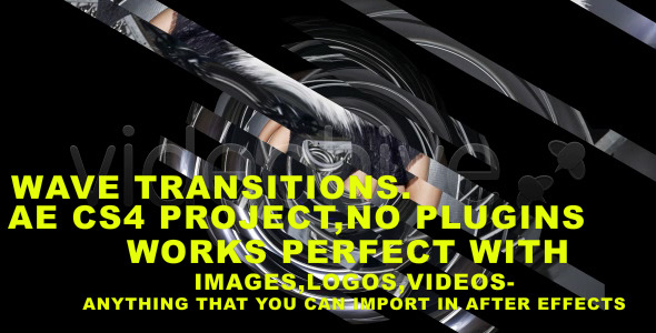 After Effects Project - VideoHive wave transitions folder 1258761