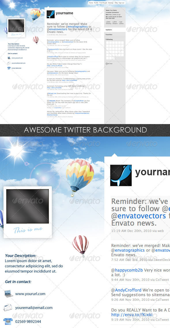 GraphicRiver Twitter Background 152164