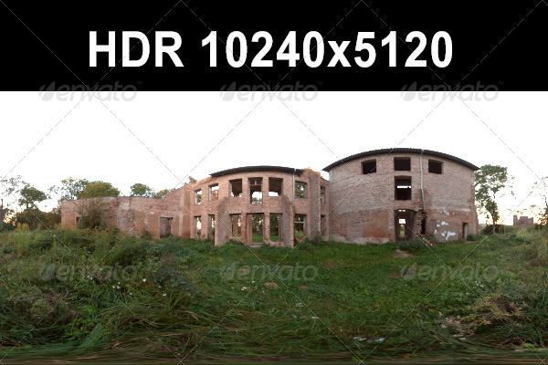 3DOcean Ruin Afternoon HDR 05 CG Textures -  HDRI Images  Exterior  Sky  Daylight 1259416