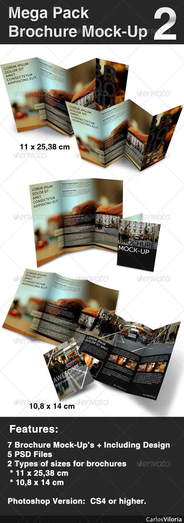 GraphicRiver Mega pack Brochure Mock-Up 2 103275