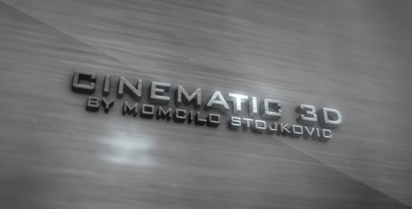 After Effects Project - VideoHive Cinematic 3D 152476