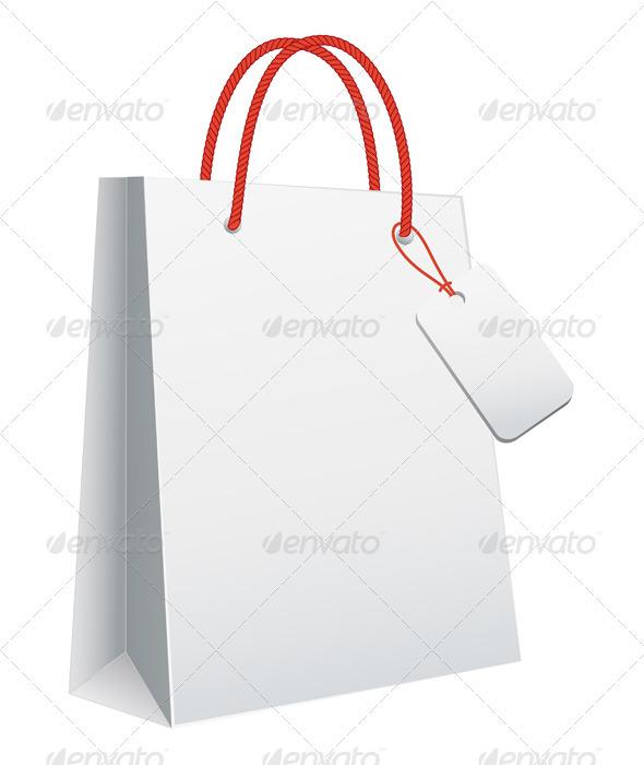 GraphicRiver White Shopping Bag 1263568