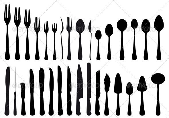 GraphicRiver Cutlery Set 1263733