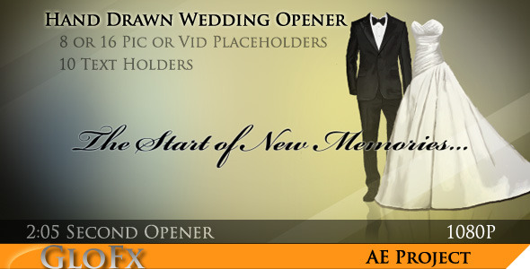After Effects Project - VideoHive Hand Drawn Wedding Opener 681908