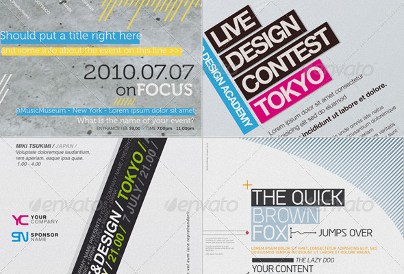 GraphicRiver Get Minimal Flyer Bundle 01 153016