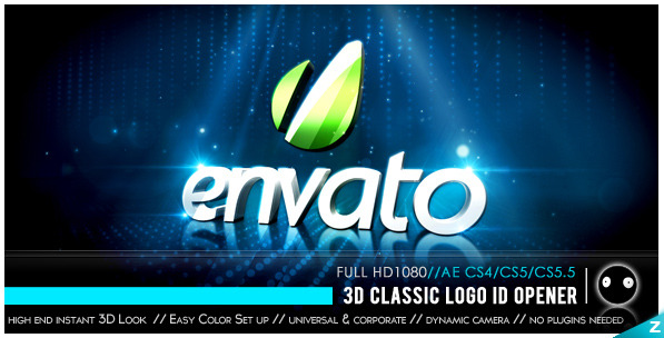 After Effects Project - VideoHive 3D Classic Logo ID Opener 1269416