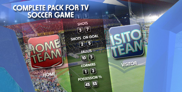 After Effects Project - VideoHive Sports Pack Tv Soccer Game 1223477