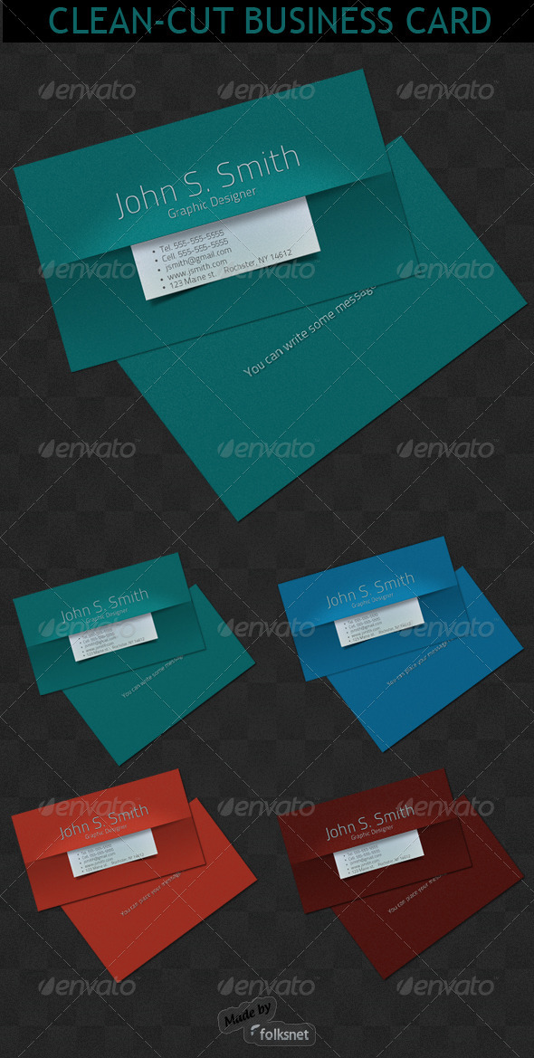GraphicRiver Clean-Cut Business card 112950