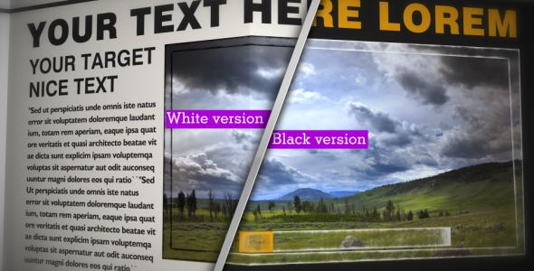 After Effects Project - VideoHive NEWSPAPER Black&White CS4 153160