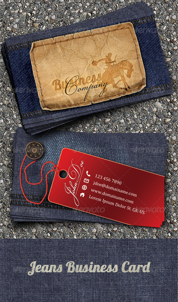 GraphicRiver Jeans Business Card 153162