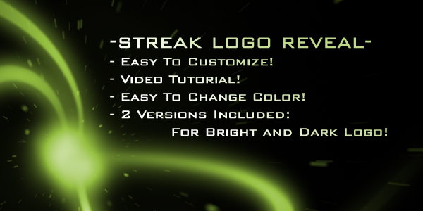 After Effects Project - VideoHive Streak Logo Reveal 153361