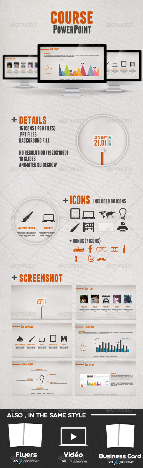 GraphicRiver Course Presentation Powerpoint 1273699