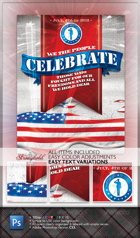 GraphicRiver Celebrate 4th of July Flyer 1274141