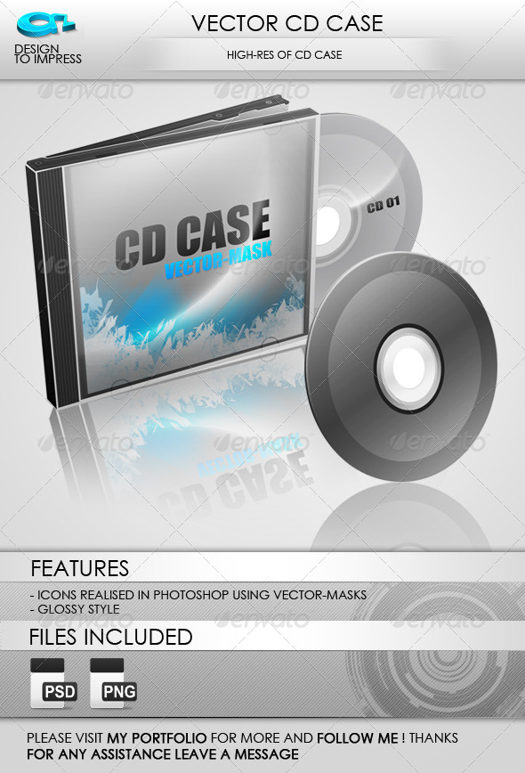 GraphicRiver Glossy CD CD CASE 71656