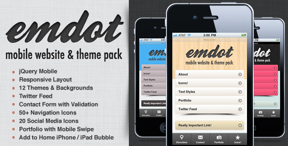 Site Templates – Emdot – Mobile Website & Theme Pack | ThemeForest