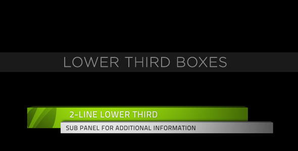 After Effects Project - VideoHive Lower Third Boxes 153158