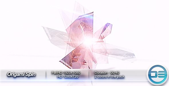 After Effects Project - VideoHive Origami Spin 130023