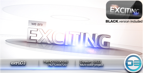 After Effects Project - VideoHive extruD3 150120