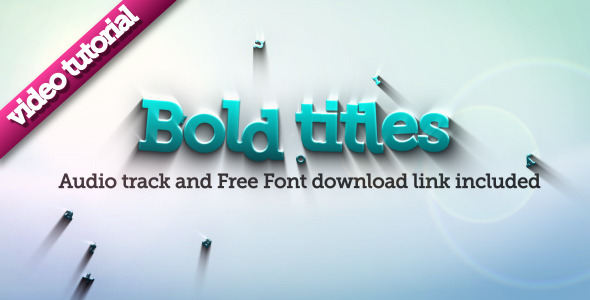 After Effects Project - VideoHive Bold Titles Logo Reveler 117278