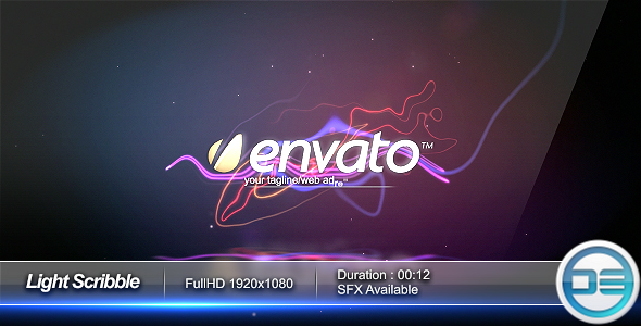 After Effects Project - VideoHive Light Scribble Intro 57050