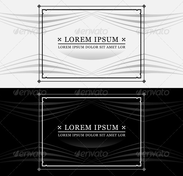GraphicRiver Ornate Frame and Text 112328