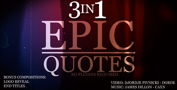 After Effects Project - VideoHive Epic Quotes 3IN1 154076