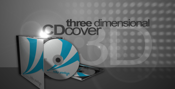 After Effects Project - VideoHive 3D CD cover mock-up 54729