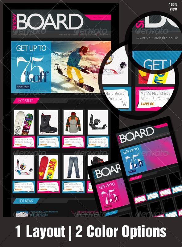 GraphicRiver eNewsletter Design for eCommerce Adrenaline Rush 1284151