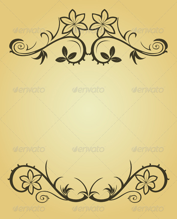 Graphic River Vintage Frame in Victorian Style Vectors -  Decorative  Flourishes / Swirls 154538