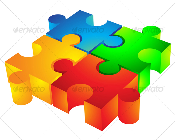 GraphicRiver 3D Jigsaw puzzle 51362