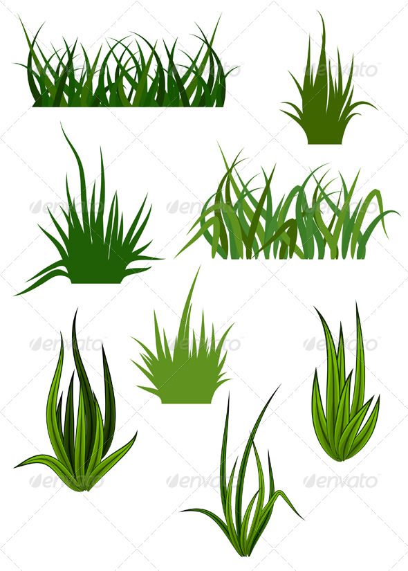 GraphicRiver Green Grass Elements for Design 154774