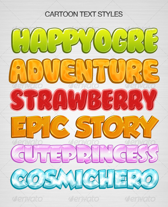 GraphicRiver Kids Text Layer Style 154820