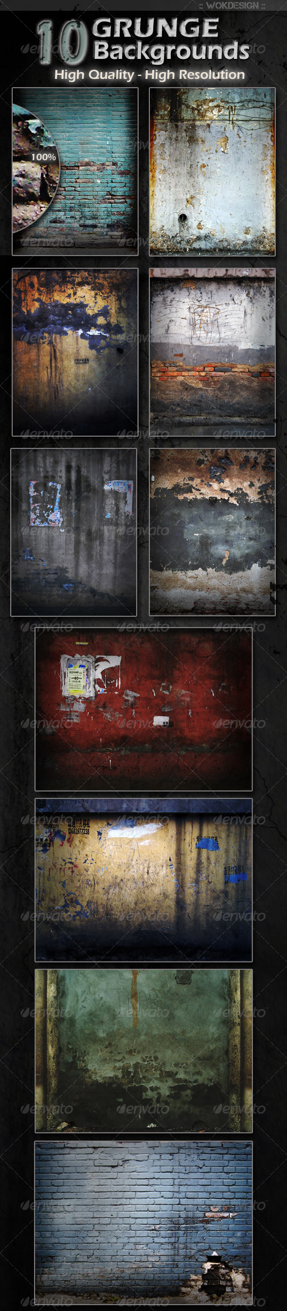 GraphicRiver 10 Grunge Backgrounds 1289021