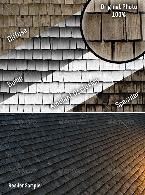 3DOcean Weathered Cedar Shingles Tileable Texture 154984